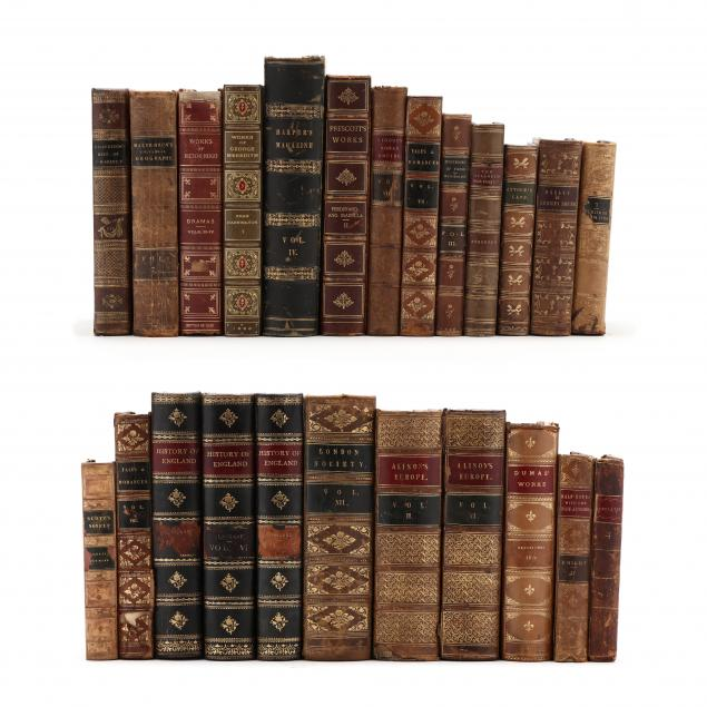 24-mostly-19th-century-leatherbound-books-in-english
