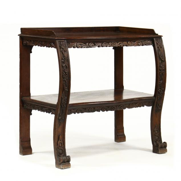 antique-english-carved-oak-server