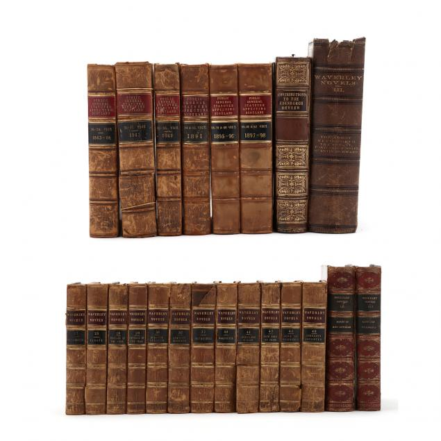 22-non-fiction-and-fiction-leatherbound-books-of-scottish-interest