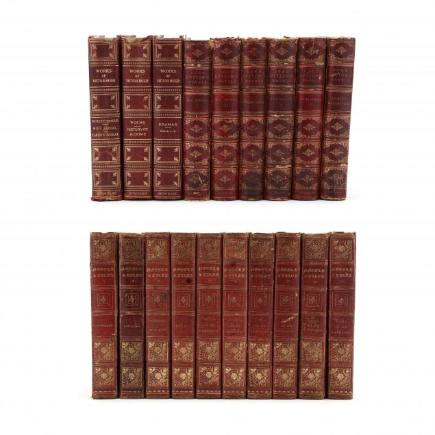 19-leatherbound-volumes-of-19th-century-literature