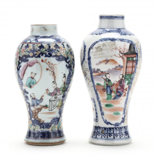 two-chinese-export-porcelain-cabinet-vases