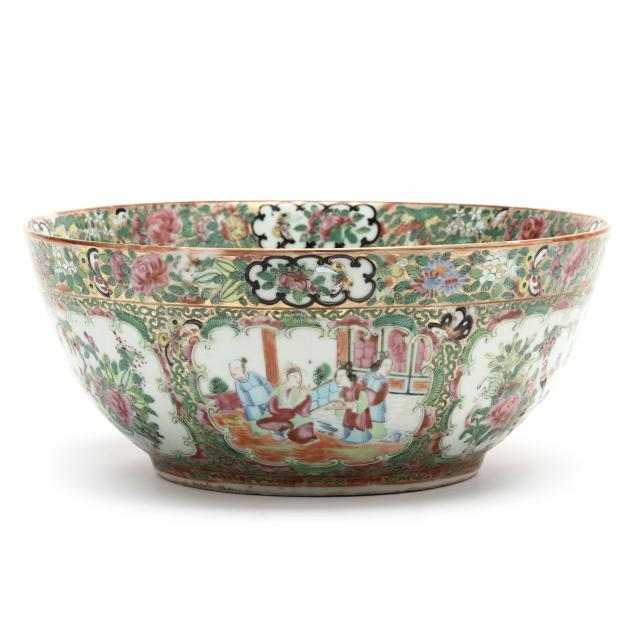 a-chinese-export-porcelain-rose-medallion-punch-bowl