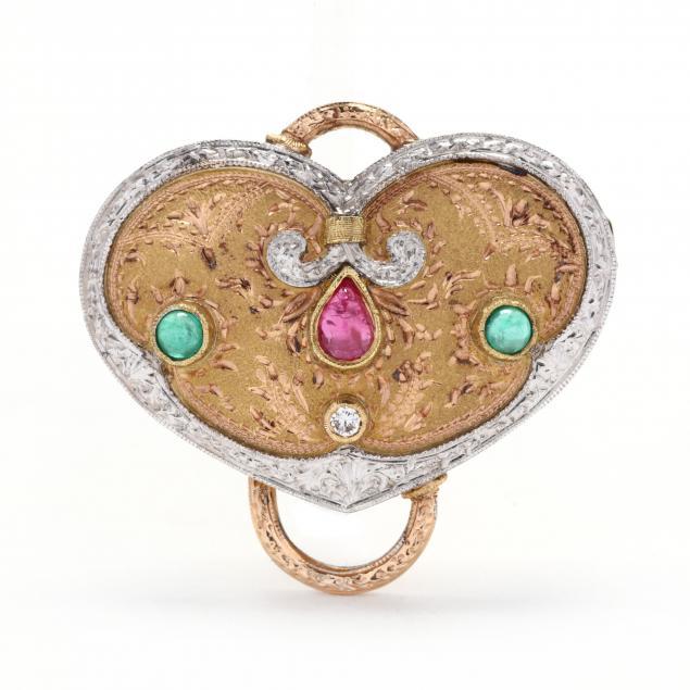 18kt-bi-color-gold-brooch-pendant-cazzaniga