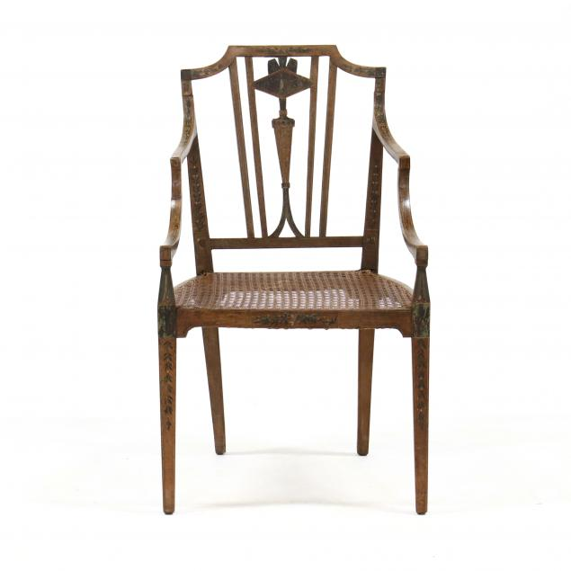 antique-adam-style-painted-armchair