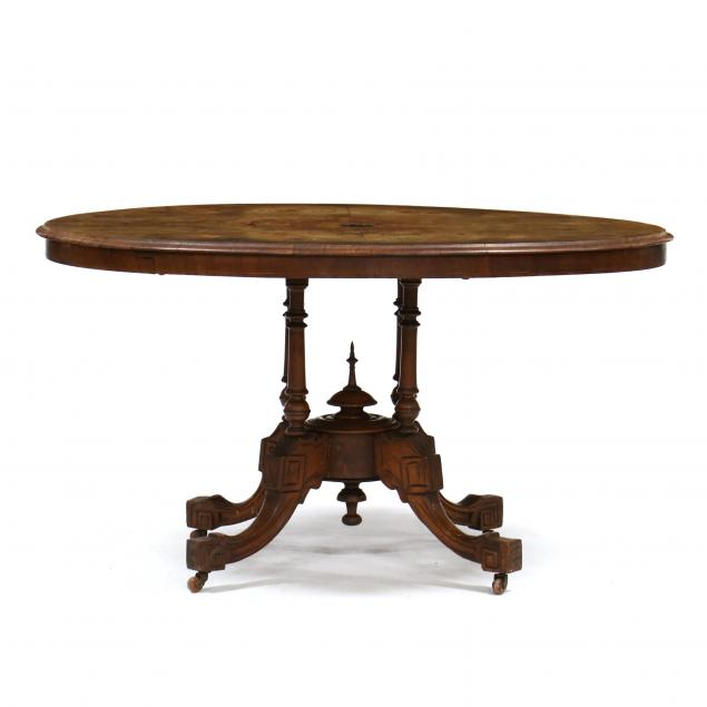 renaissance-revival-inlaid-burl-wood-tilt-top-breakfast-table