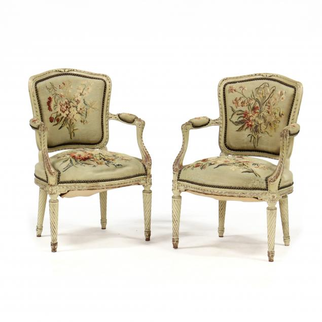 pair-of-antique-louis-xvi-style-carved-and-painted-fauteuil
