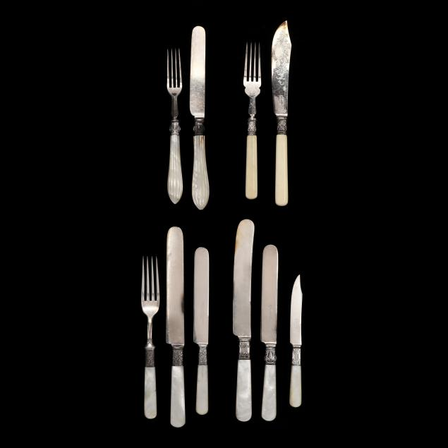 a-grouping-of-antique-silverplate-flatware
