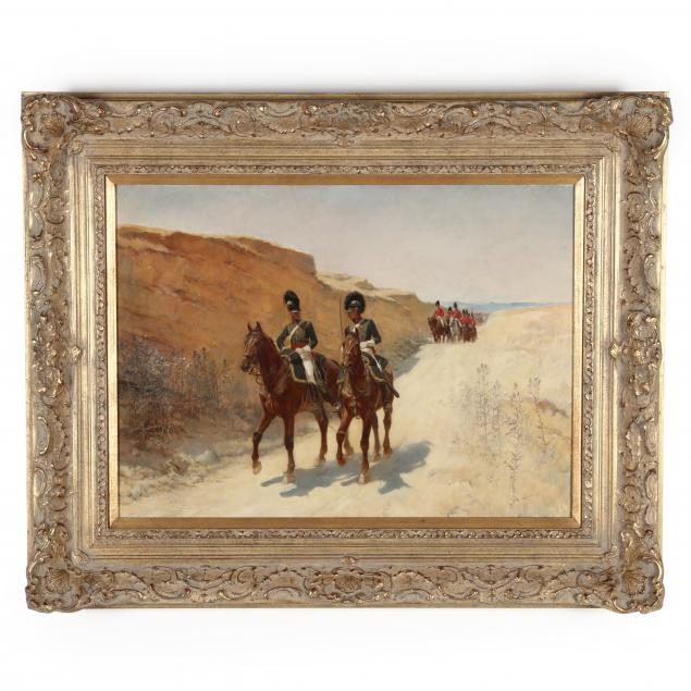 andrew-carrick-gow-english-1848-1920-military-procession-in-the-desert