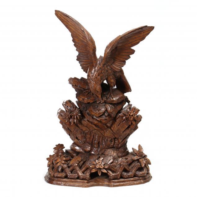 large-hand-carved-black-forest-sculpture-of-an-eagle
