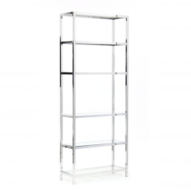 modern-chrome-and-glass-bookshelf