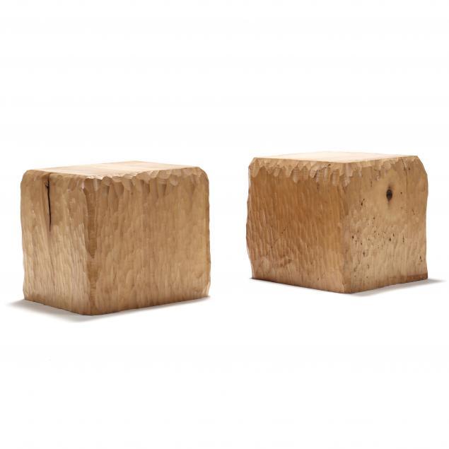joe-rowand-s-pair-of-custom-chip-carved-maple-pedestals