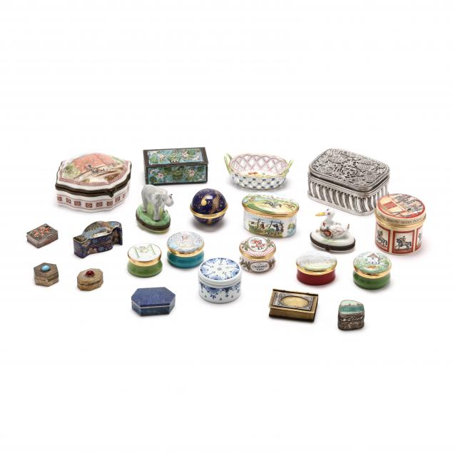 a-collection-of-twenty-two-pill-boxes-and-decorative-items