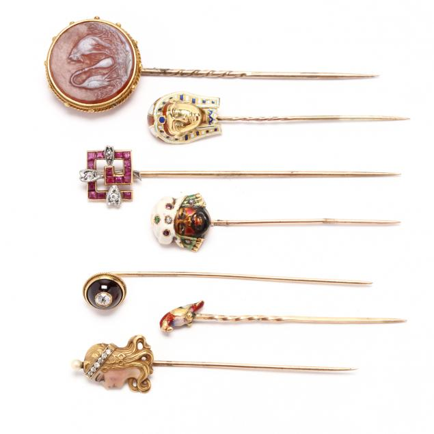 collection-of-seven-antique-stick-pins