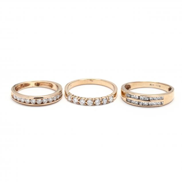 three-gold-and-diamond-bands