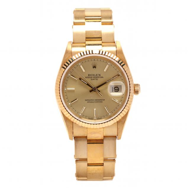 gent-s-18kt-gold-oyster-perpetual-date-watch-rolex