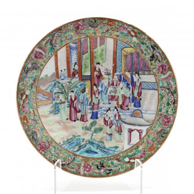 a-chinese-export-porcelain-rose-mandarin-circular-charger