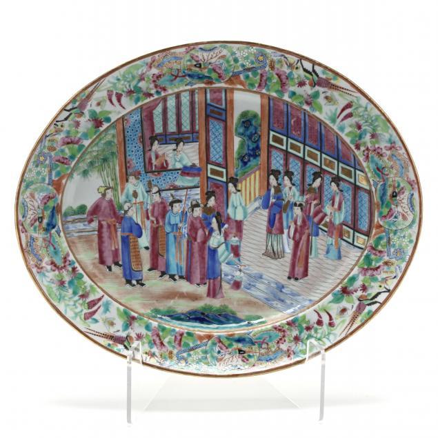 a-chinese-export-porcelain-rose-mandarin-oval-platter