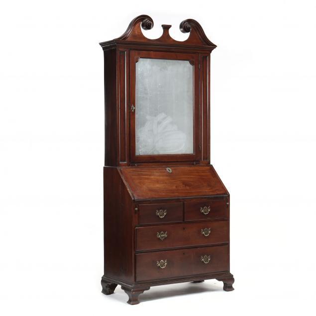 george-ii-mahogany-bureau-bookcase