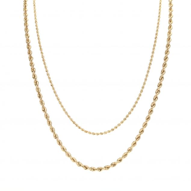 two-gold-rope-twist-chain-necklaces