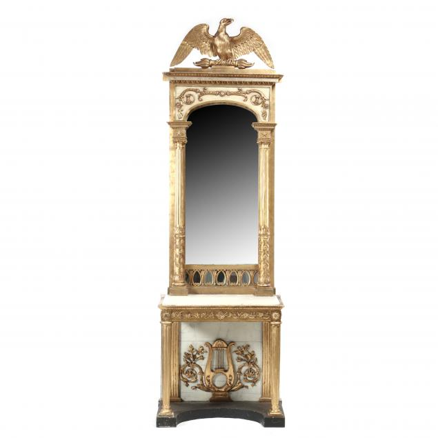 swedish-carved-and-gilt-eagle-marble-top-pier-mirror-labeled