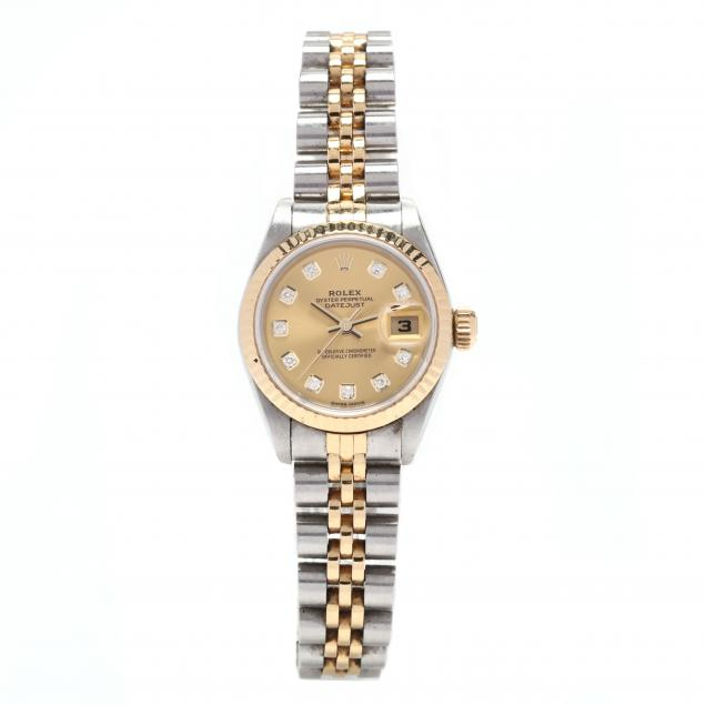 lady-s-stainless-steel-and-18kt-gold-oyster-perpetual-datejust-watch-rolex