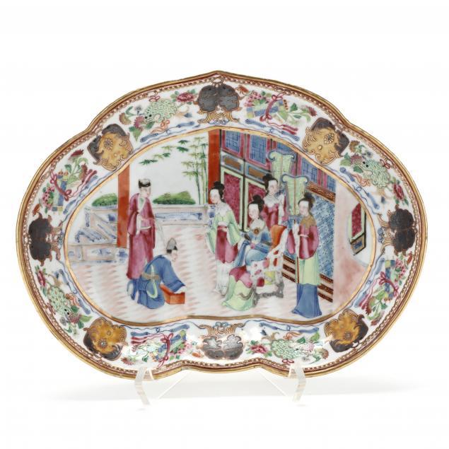a-chinese-export-porcelain-rose-mandarin-shell-dish