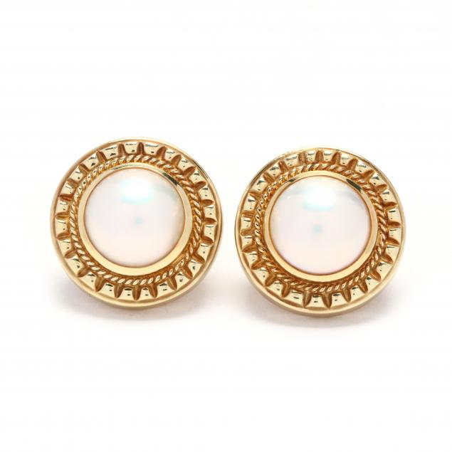 18kt-gold-and-mabe-pearl-earrings-signed