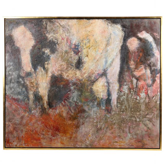 genevieve-cotter-american-1933-2017-i-cow-series-34-pink-cows-i