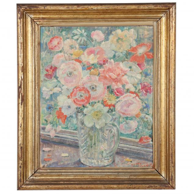 nora-lucy-mowbray-cundell-british-1889-1948-i-flowers-in-a-glass-jug-i