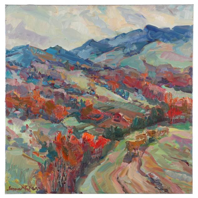 james-p-kerr-american-b-1953-i-red-bud-time-matney-hill-i