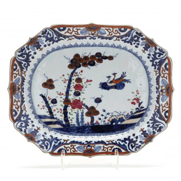 a-chinese-export-porcelain-bamboo-and-flora-serving-platter
