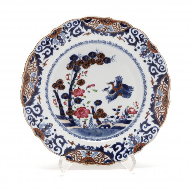 a-chinese-export-porcelain-bamboo-and-flora-plate
