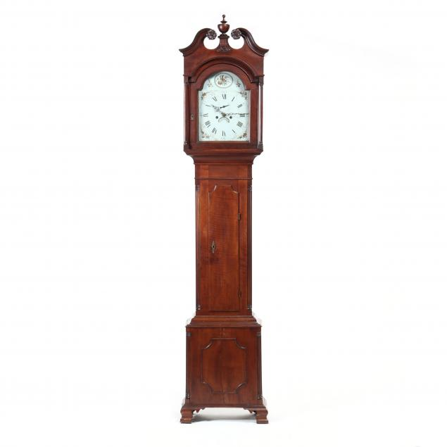southern-chippendale-walnut-tall-case-clock