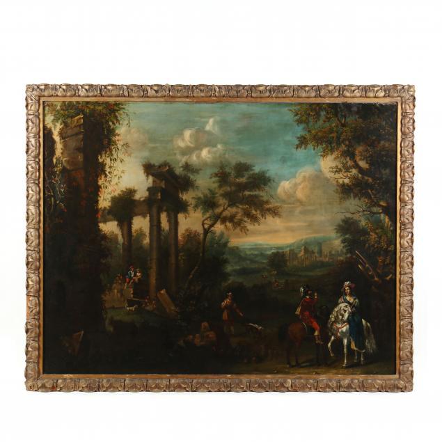 italian-school-18th-century-a-capriccio-scene-with-temple-ruins-and-elegant-figures