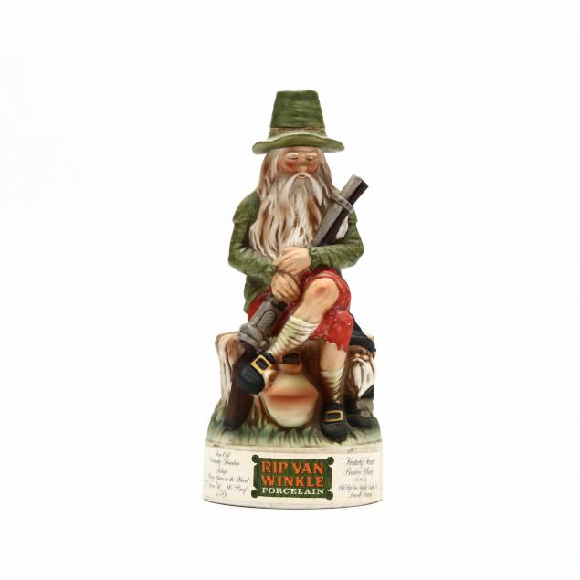 old-rip-van-winkle-bourbon-whiskey-in-hand-painted-green-porcelain-decanter