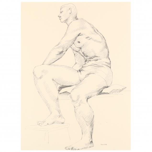 claude-howell-american-1915-1997-seated-nude