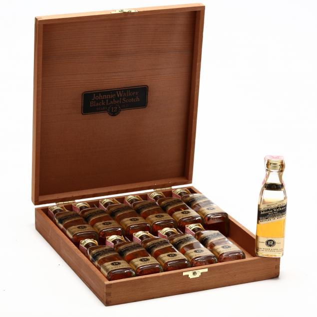 johnnie-walker-blended-scotch-whisky-black-label-mini-bottles-in-wooden-box-set