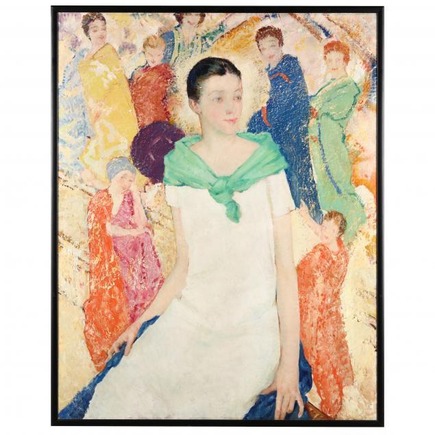 eben-farrington-comins-american-1875-1949-portrait-of-a-woman-with-celestial-figures