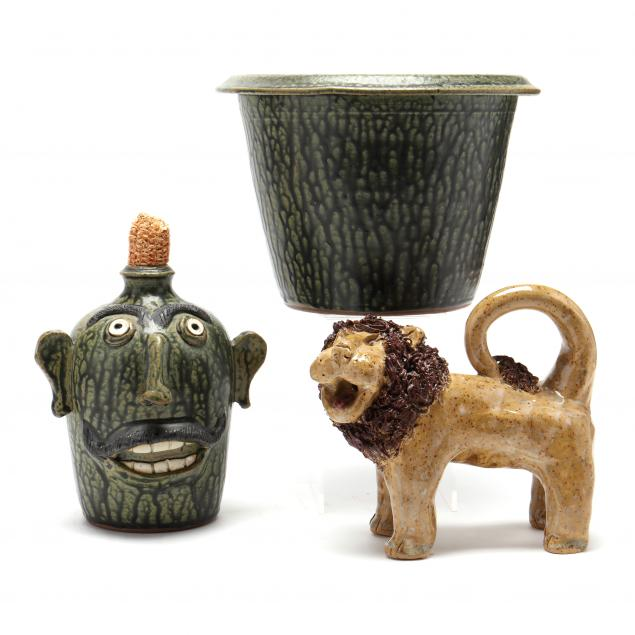 sid-luck-and-crystal-king-nc-pottery-grouping