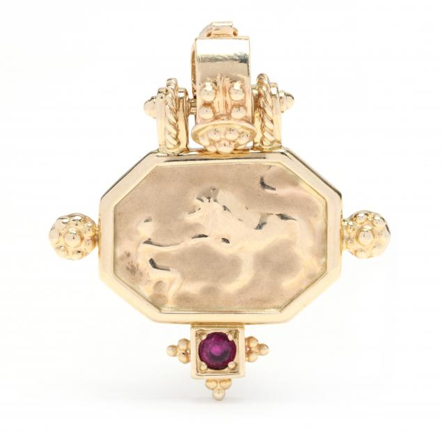 classical-style-yellow-gold-and-gem-set-pendant