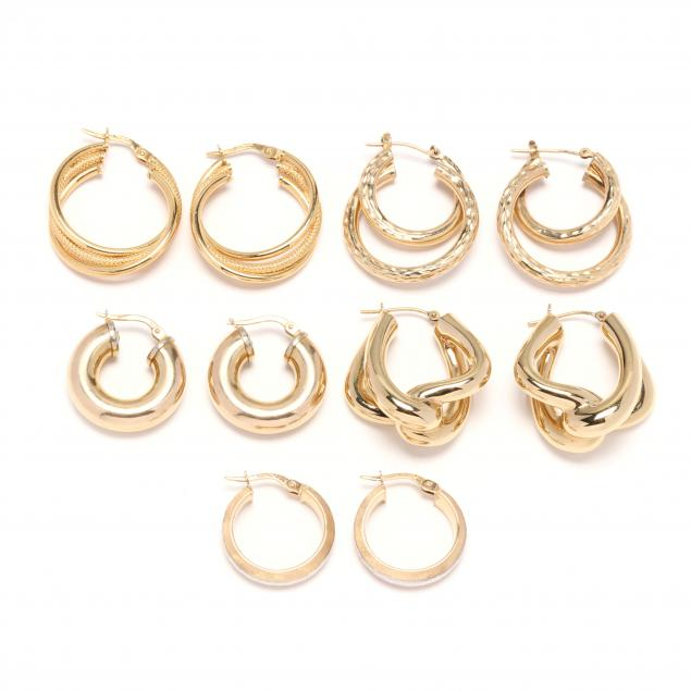 five-pairs-of-gold-hoop-earrings