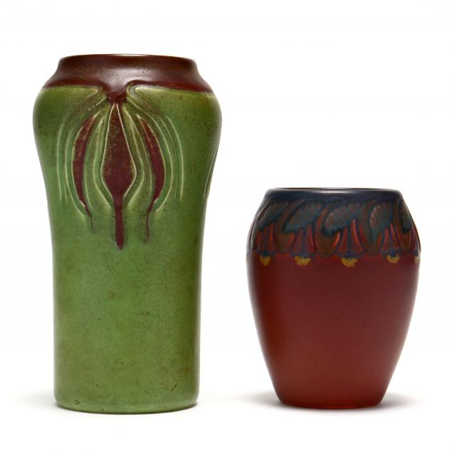 two-rookwood-art-pottery-vases