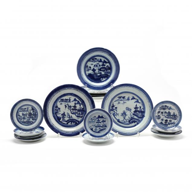 a-group-of-chinese-export-porcelain-canton-plates