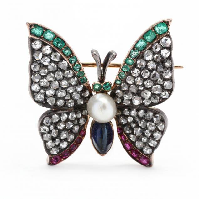 antique-silver-topped-gold-and-gem-set-butterfly-brooch