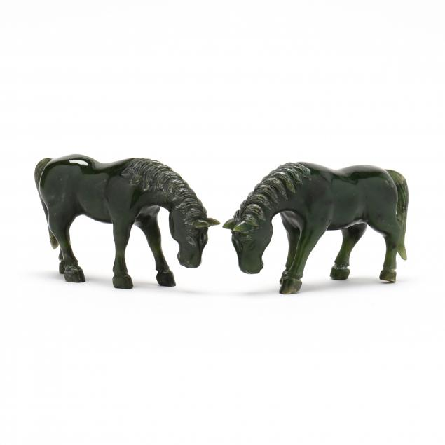 a-pair-of-chinese-spinach-jade-carved-horses