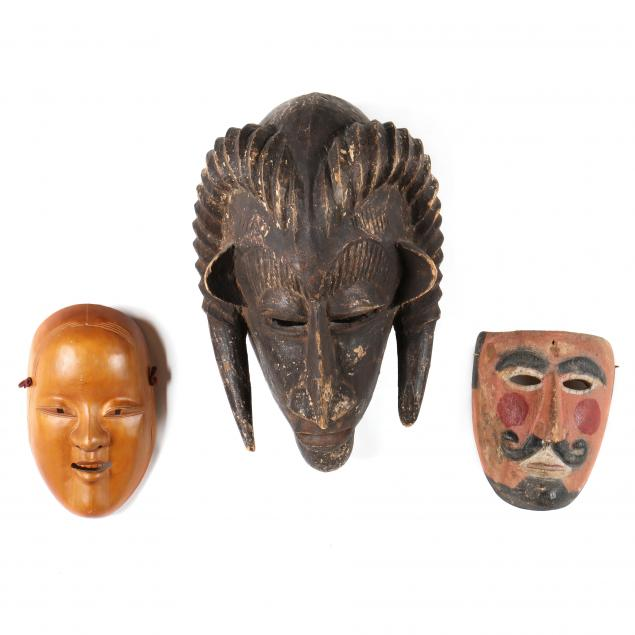 wooden-masks-from-three-continents
