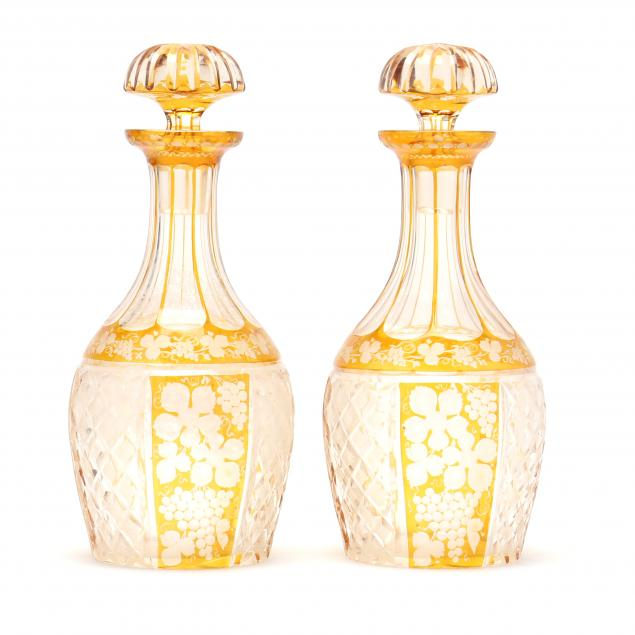 pair-of-bohemian-cut-to-clear-decanters