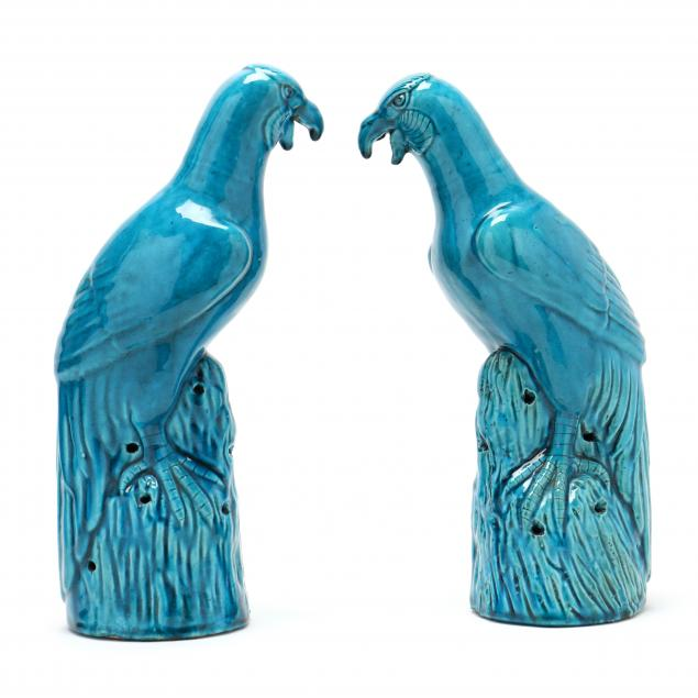 a-pair-of-chinese-turquoise-glazed-parrots
