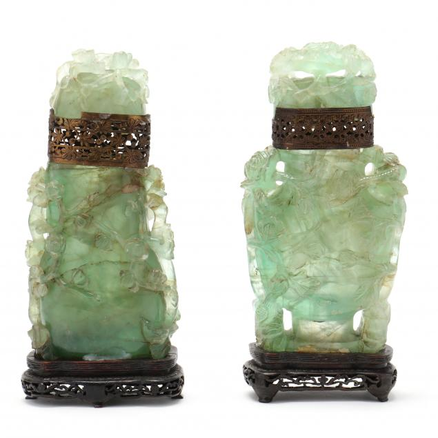 two-chinese-green-quartz-covered-urns