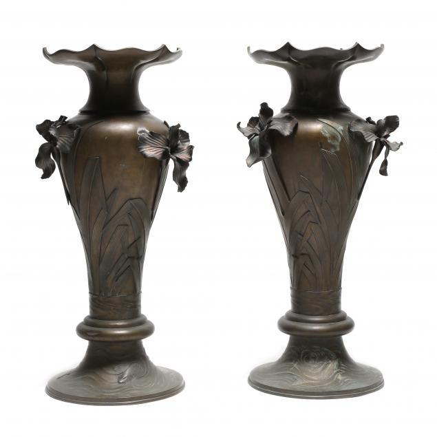 a-pair-of-japanese-bronze-floor-vases